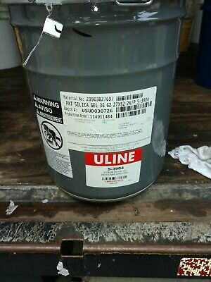 Uline S-3904 2000 Packets 3 g Grams Silica Gel Desiccant Pack Moisture Absorbers