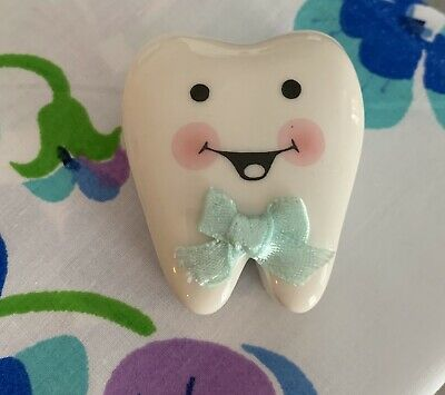 Ceramic Tooth Fairy Keepsakes for Lost Tooth Unisex by Ganz VGUC