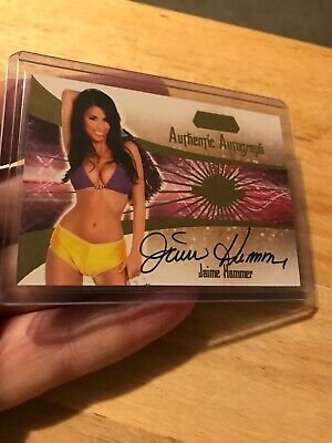 2007 Benchwarmer Gold Edition Authentic Autograph Card Jaime Hammer