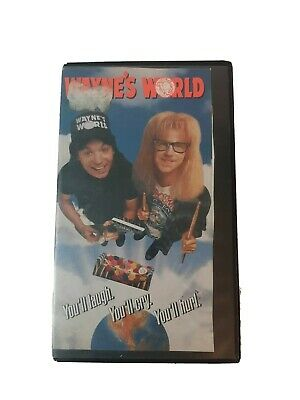 Wayne's World VHS Tape Old Video Store Rental