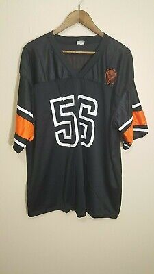 Official JAGERMEISTER Liquor Black #56 Football Promo Jersey Size Large