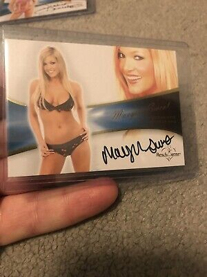 2013 Benchwarmer Bubble Gum Authentic Autograph Card Maegen Sweat