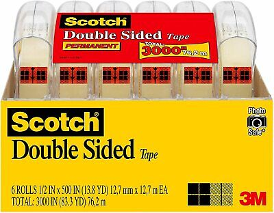 Scotch Brand Double Sided Tape, No Liner, Strong, FREE SHIPPING
