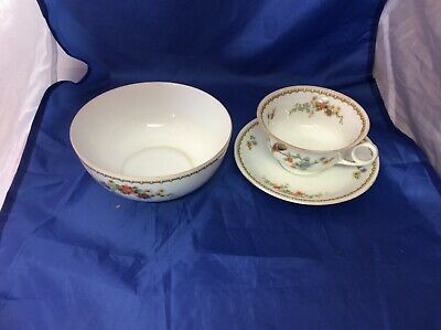 mz altrohlau cmr czechoslovakia Cup Saucer And Bowl Used (s) RT