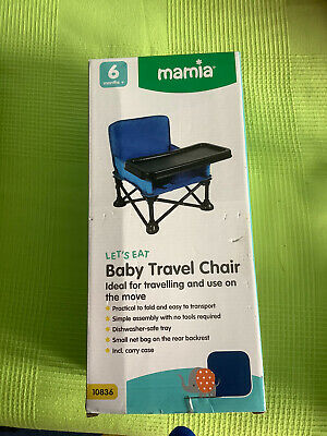 Foldable Baby Portable Travel Booster Chair, Complete With Travel Bag And Boxed