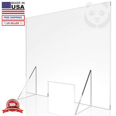 Sneeze Guard Shield Counter Barrier Divider Retail Acrylic Plastic - Made in USA