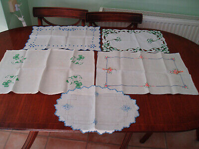 5 Vintage Tray / Table Cloth 2 With Clover Design