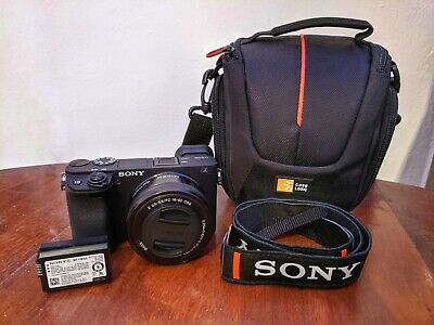 Sony Alpha a6400 w/ Sony 16-50mm Lens, Battery, Bag and Strap. Only used ONCE!