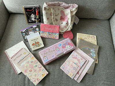LOT NEW Sanrio My Melody Little Twin Stars Stationary Tote Kuromi Ty Pencil Case
