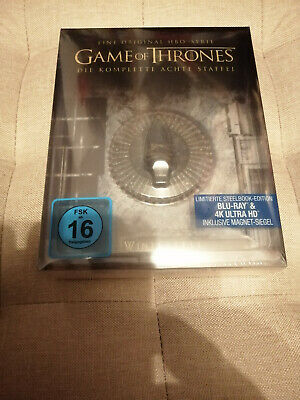 Game of Thrones Staffel 8 Steelbook Edition NEU&OVP deutsch Blu-ray 4K Ultra HD
