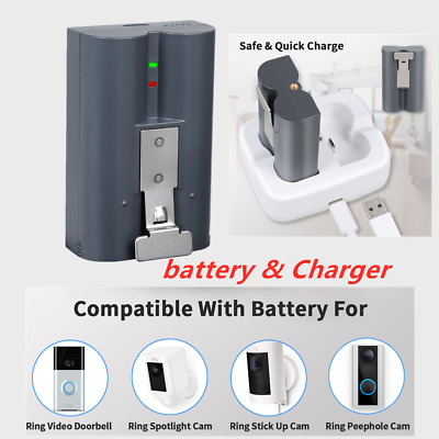 Ring 2 Video Door Bell Rechargeable Battery 6040mAh 3.65 + Charger