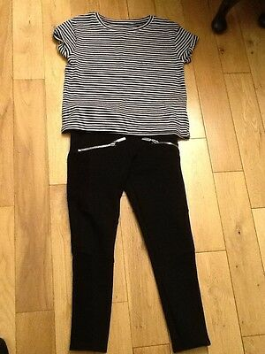 Next Girls  trousers with matching t-shirt age 7