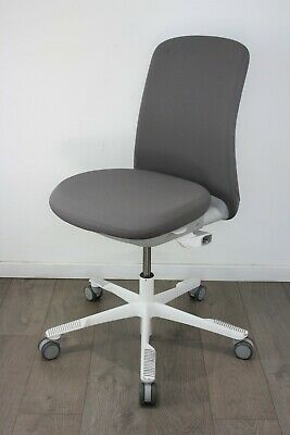 NEXT DAY UK DELIVERY   HAG SoFi Chairs   White & Grey   Lumbar   No Armrests