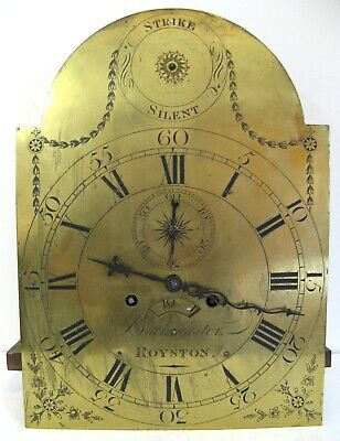 Eight Day Brass  Dial & Movement - Buckmaster of Royston - Circa 1780.