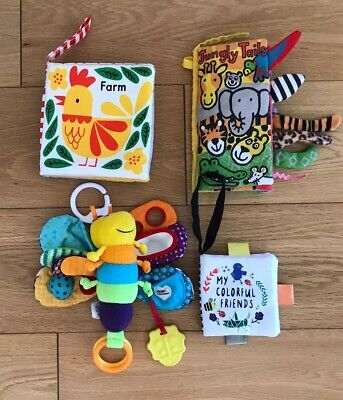 Babies Soft Toys Jelly Cat, Lamaze Sensory Baby Toy Bundle Of 4