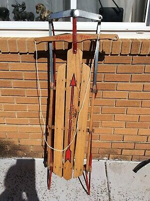 Vintage Flexible Flyer Snow Sled Airline F052 USA 1960s Working Collectible