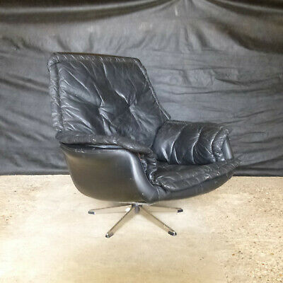 EB665 Danish Bucket Swivel Chair Vintage Retro Mid-Century Modern Lounge Seating