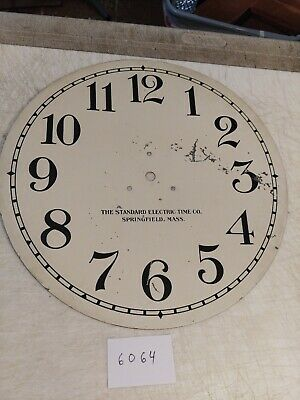 14 1/2 Inch Standard Electric Time Co. Clock Dial