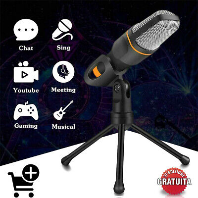 Microfono A Condensatore Per Registrazione Vocale Conferenze Karaoke Chat Pc