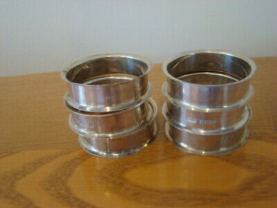 6x Sterling Silver Napkin Rings 30g