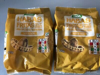 ASDA HABAS FRITAS X 2 MEXICAN SNACKS FRIED BROAD BEANS Cheap Savoury Snacks