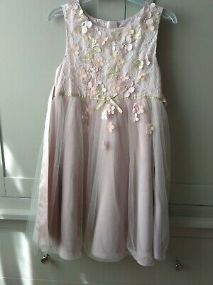 Monsoon Tiger lily Blossom Dress age 7 bridesmaid / party / occasion hardly worn