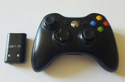 Official Microsoft Xbox 360 Wireless Controller Black Genuine Remote Control