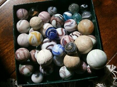 Collection of assorted old marbles Vintage toys 42