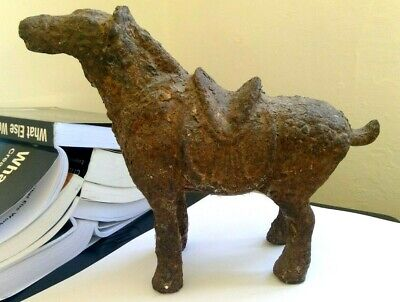 Antique Tang Dynasty iron cast? Chinese? horse figure model statute  VERY heavy