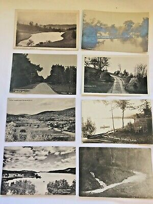 (8) Vintage Real Photo Post Cards NYS views-some posted B&W   [5-33