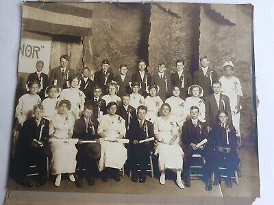 Vintage Photo Graduating Class Fairmount Indiana Early 1900's African American