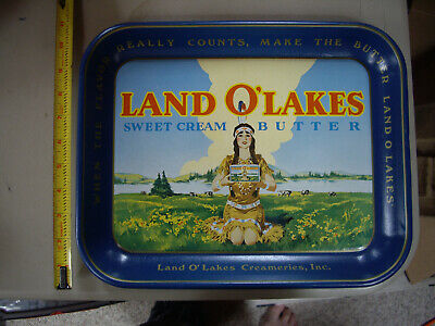 Vintage Land O' Lakes Sweet Cream Butter Serving Tray Retired logo
