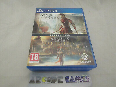DOUBLE PACK ASSASSIN'S CREED ODYSSEY + ORIGINS PLAYSTATION 4 PS4 (vendeur pro)