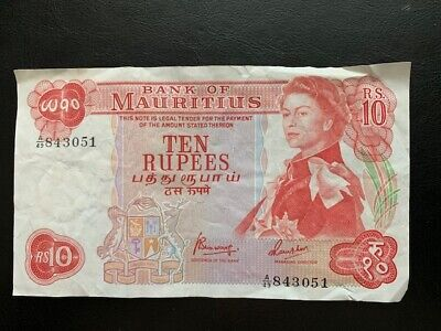 Mauritius 10 Rupees ND (1967) Pick 31 c