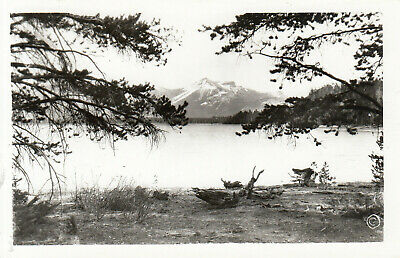 Real Photo YELLOWSTONE NATIONAL PARK RPPC Colter Peak Yellowstone Lake Haynes
