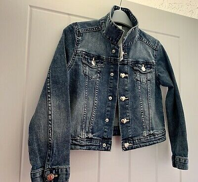 Girls Age 6-7 Years Denim Jacket. Nlue. H & M Bnwt