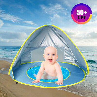 Portable Baby Beach Tent with Pool - Pop Up Shade Canopy W/UV Protection Sun