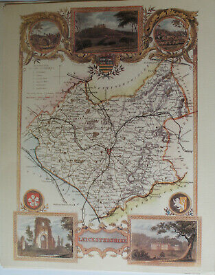 Print - Map - Leicestershire