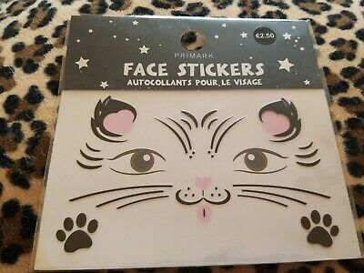 Cat Kitten Cosplay Face Stickers Festival Party