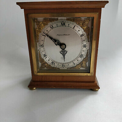 Vintage Elliott Walnut Wood Case Mantel Clock (Mappin & Webb)