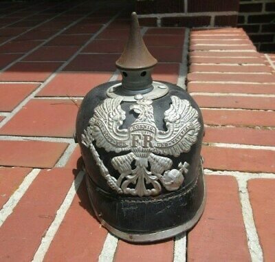 Childs Antique German / Prussian Spike Helmet.  Pickelhaube.  Marked.