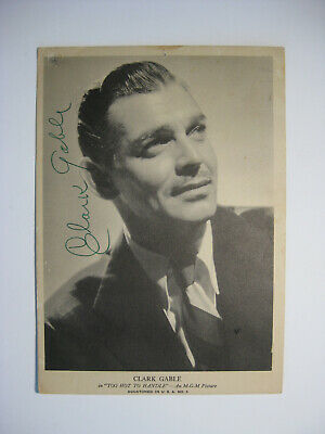 """CLARK GABLE - Rare AUTOGRAPHED VINTAGE 5x7"""" PHOTO - HAND SIGNED - GONE WITH WIND"""