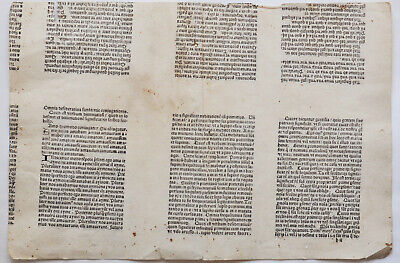 Undescribed incunable - Fragment of uncut layer b – Guy Marchant – Paris 1500