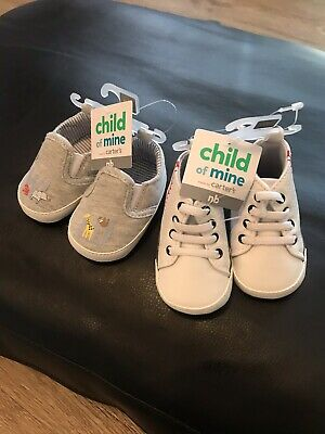 Lot Of 2 Child Of Mine Baby Boy Sneakers, Newborn, New