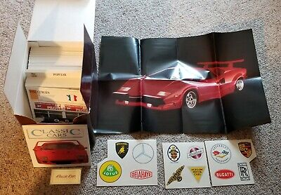 Edito-Service Classic Cars Collectors Club Cards/Poster/Stickers