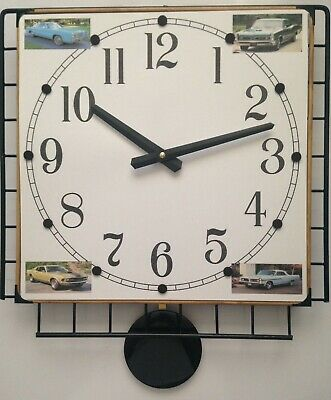 4, 6-Photo Collage Pendulum Wall Clock with Your Favorite Photos