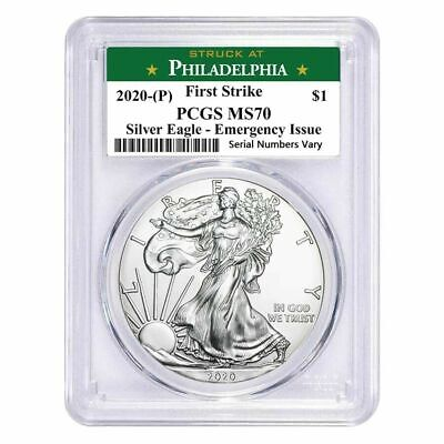 2020 (P) $1 Silver Eagle Emergency Issue PCGS MS 70 FS