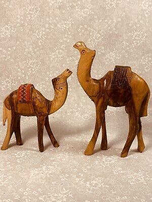 Camel Set. Carved Wood. From Morocco