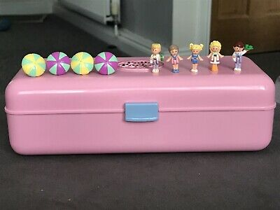Vintage Polly Pocket 1989 Polly Pool Party Playset 99% Complete Variation RARE