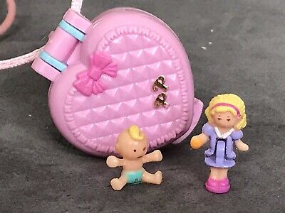 Vintage Polly Pocket 1993 Baby And Ducky Locket 100% Complete